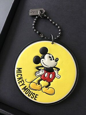 6598cc17 COACH X DISNEY Mickey Mouse Collection Hang Tag Charm Key Chain Luggage Tag  New