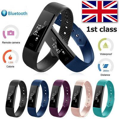 Activity Fitness Tracker Smart Health Sports Wrist Watch Band Android Iphone U.k
