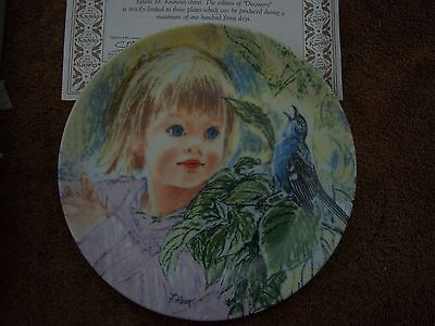 """Knowles Collector Plate Frances Hook Legacy Series """"Discovery""""  Orig COA & Box"""