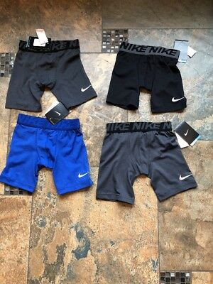 New With Tag Lot of 4 Boys Nike Base layer Training Compression  Shorts  Size 6