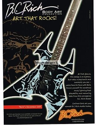 2003 B.C. RICH Beast BORVIS Electric Guitar Body Art Collection Advertisement