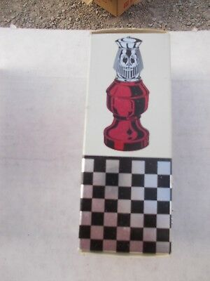 1) Vintage Avon Chess Piece The King Orland After Shave Bottle + Original Box