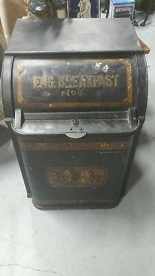 Old  Antique Vtg  General Store Metal Tea  Dispenser Bin Tin Eng Breakfast No. 4