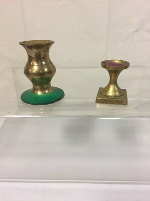 Assorted Brass Candle Holders Vintage Antique LOT OF 2