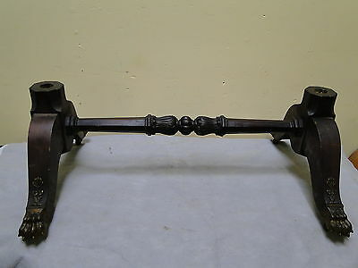 Antique Mahogany Brass Claw Foot Chevelle Mirror Base