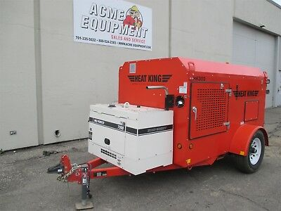 New Carry-Over Heat King Hk300 Towable Ground Thaw Heaters - Generator Included!