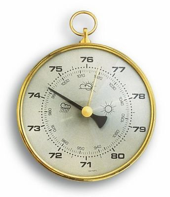 Barometer with brass ring TFA 29.4003, hPa and mmHg