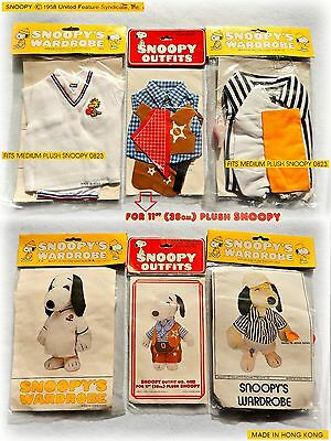 👕 True Vintage 80S PEANUTS SNOOPY wardrobe 2SIZES OUTFIT Tennis Referee Sheriff