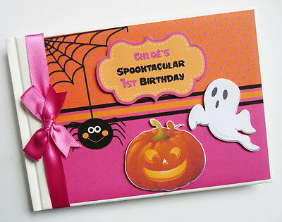 Personalised Halloween Boy/girl Birthday Guest Book - Any Design
