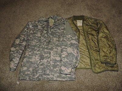 Us Army Field Jacket Army Combat Uniform Medium Long Acu Military Coat Military