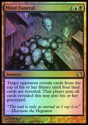 1x FOIL MIND FUNERAL - Rare - Modern Masters - MTG - NM - Magic the Gathering
