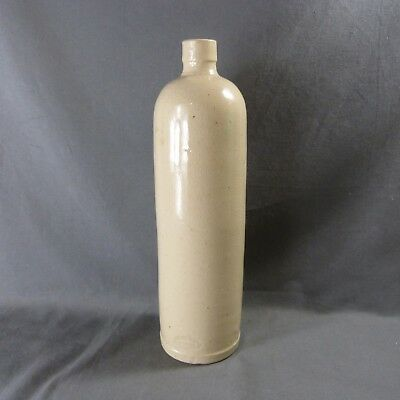 """Large Antique French Rustic Stoneware Bottle stamped """"Paul LANGERON"""" RARE"""