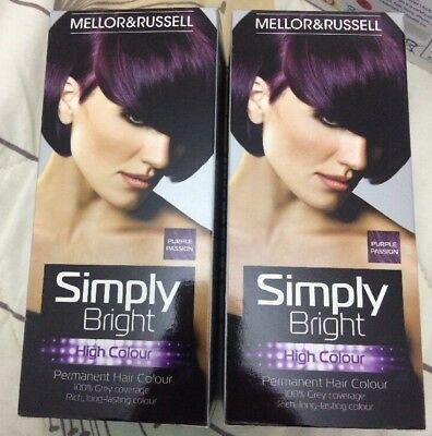 2 X Mellor & Russell Simply Bright Hair Colour Purple Passion