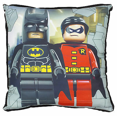New Lego Batman Robin Kapow Cushion Pillow Kids Boys Bedroom Gift Present