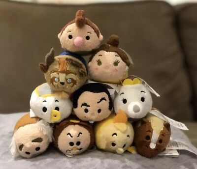 Complete 10 Beauty and Beast Tsum Tsum Disney Store Set with LeFou
