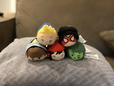 Marvel Women Complete set 5 Tsum Tsum Disney Store Set with Tags