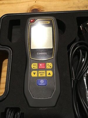 General Tools CIH20DL, Data Logging Hot Wire Anemometer with CFM and 8:1 IRT The