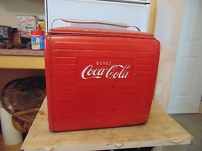 vintage  coca cola   ice chest cooler  /# 4429