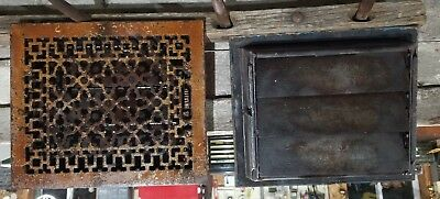 Vintage Ornate-Victorian-Cast-Iron-Register-Heat Vent Tuttle & Bailey ! NY