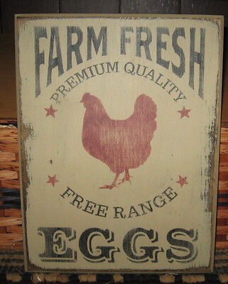 Primitive Country Farm  Fresh Eggs~Premium Quality~Free Range Sign