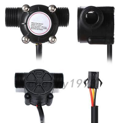 Water Flow Sensor Fluid Flowmeter Switch G1/2 Counter 1-30L/min Meter DN15 Hall