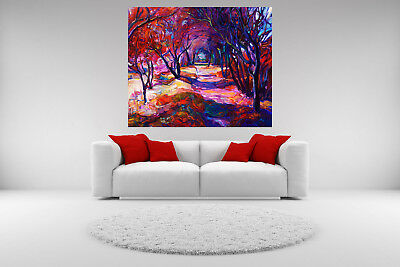 Forest Path Landscape Canvas Giclee Print Picture Unframed Home Decor Wall Art