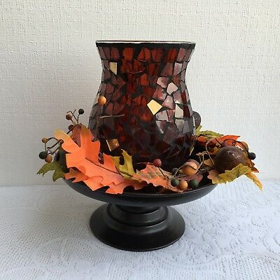 Partylite Global Fusion Hurricane Lamp - Mosaic Glass