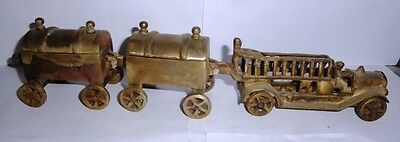 Vintage Brass Sand Cast Railgadi Train Toy and Multipurpose Boxes Coach Train