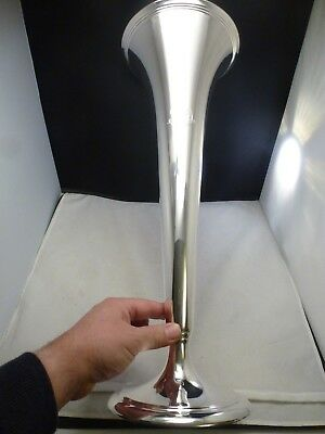 "Antique Tiffany Sterling Silver Large Trumpet Vase, circa 1913    WOW 20 "" TALL"