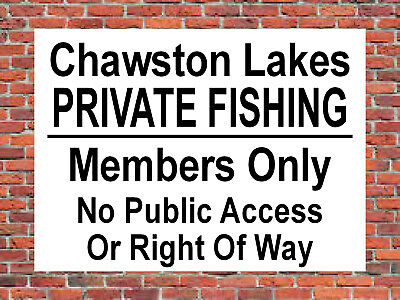 PRIVATE FISHING MEMBERS ONLY Metal SIGN angling property land no access NOTICE
