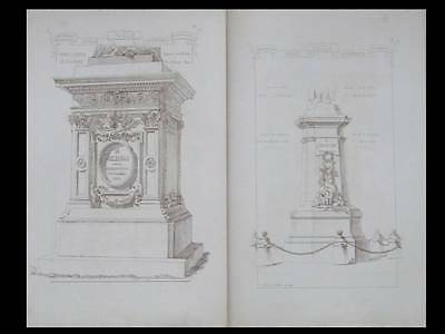 Architecture, Socles - Gravures 1874 - Materiaux Et Documents, Raguenet