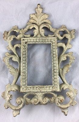 Vintage Victorian Picture Frame Metal Iron Shabby Chic JM54