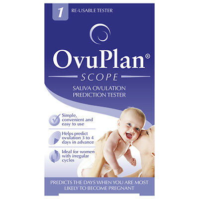 NEW Ovuplan Ovulation Tester Scope Saliva Ovulation Prediction Tester