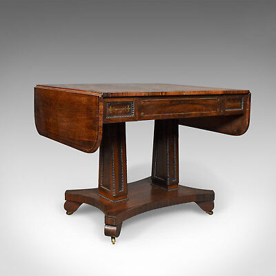 Antique Sofa Table, Rosewood, English, Regency, Pembroke, Circa 1820