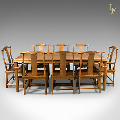 Mid-Century Chinese Table & Chairs, 8 Seater in Traditional Taste, Oriental