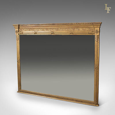 Regency Revival Overmantel Mirror, Top Quality, Late C20th, Wall