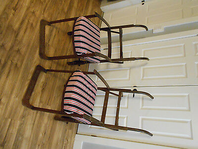 Very Unique Chairs IRON Vintage 2 Wheeler WAY COOL Colson Co Steel Patina Patio