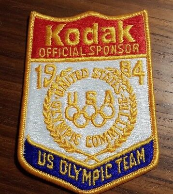 Collectible Kodak 1984 Olympic team patch - Free Shipping