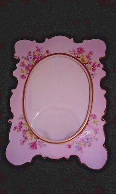 Vintage LEFTON China Hand Painted Picture Frame - Pink (#271)