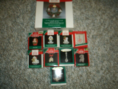 Hallmark Keepsake Miniature Christmas Ornament Lot (11) - In Boxes !!