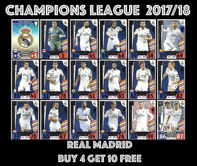 Real Madrid Winners Match Attax Champions League 2017/18 17/18