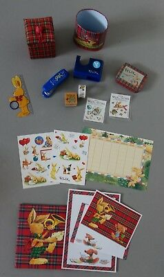 Felix Set, Tacker, Briefpapier, Stiftebecher, Sticker, Tattoo, Stempel, Konvolut