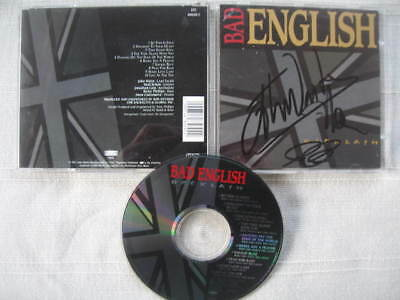 BAD ENGLISH - Backlash 1991 CD Autographed by WAITE Schon Castronovo OOP JOURNEY