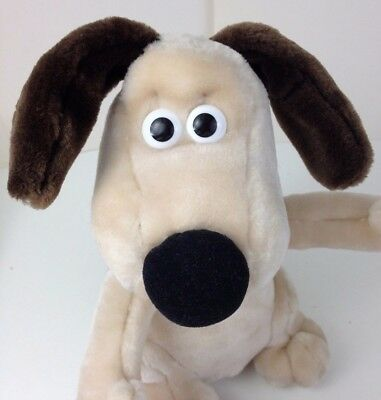 "Wallace and Gromit 10"" GROMIT Plush Toy Aardman animation Dog"