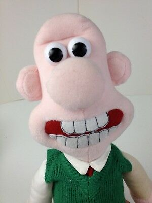 "Wallace and Gromit 15"" WALLACE Plush Toy Aardman animation"