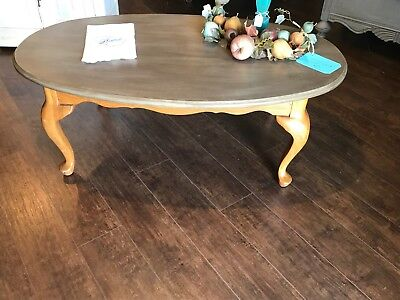 Vintage antique coffee table chalk painted