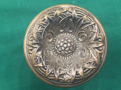Antique Cast Bronze Entry Size Victorian Doorknob