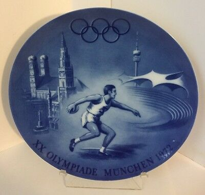 1972 Olympic Games Munich Germany Berlin Design Commemorative Collector Plate