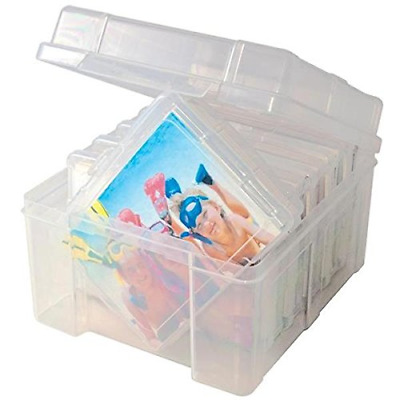 Advantus Storage Studios Photo Keeper, 5.25 by 8 by 7.5-Inch Clear