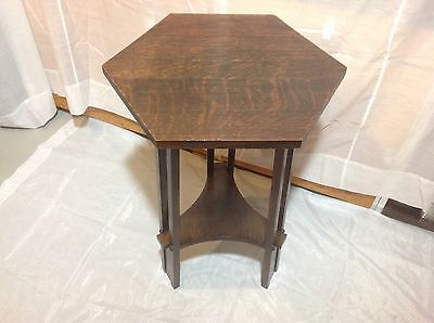 Prairie Style Spindle Drink / Vase Table Arts & Crafts Mission Oak Antique c1900